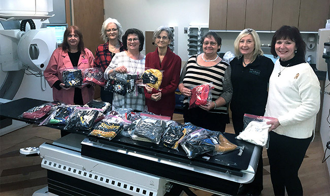 Monongahela Valley Hospital receives cold weather gifts for cancer center photo